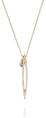 Tacori 18k Rose Gold Diamond Marquise Pendant