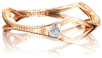 Tacori 18K Rose Gold Diamond Peak Ring