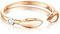 Tacori 18k Rose Gold Diamond Ring
