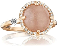 Tacori 18K Rose Gold Peach Moonstone & Diamond Ring