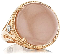 Tacori 18K Rose Gold Peach Moonstone Cocktail Ring