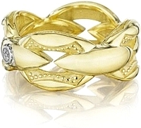 Tacori 18k Yellow Bold Crescent Link Ring