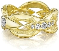 Tacori 18k Yellow Gold Bold Crescent Link Ring