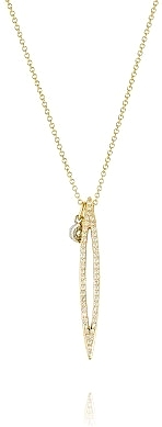 Tacori 18k Yellow Gold Diamond Marquise Pendant