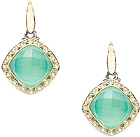Tacori 18K825 Neolite Turquoise Diamond Earrings