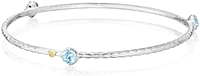 Tacori 18K925 Blue Topaz Bangle