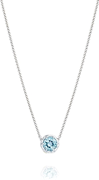 Tacori 18k925 Blue Topaz Necklace