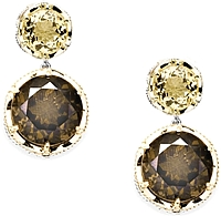 Tacori 18K925 Citrine & Cognac Quartz Earrings