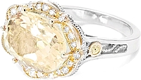 Tacori 18k925 Citrine Diamond Ring