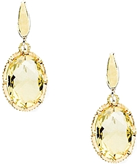 Tacori 18k925 Citrine Quartz Drop Earrings