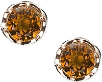Tacori 18K925 Cognac Quartz Round Stud Earrings