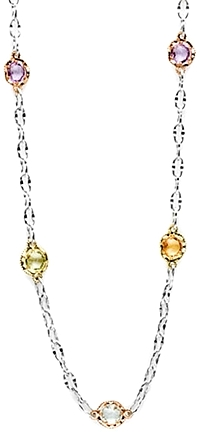 "Tacori 18K925 Colored Medley 18"" Necklace"