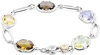 Tacori 18k925 Colored Medley Bracelet