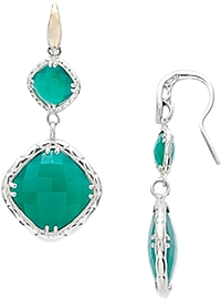 Tacori 18k925 Green Onyx Earrings