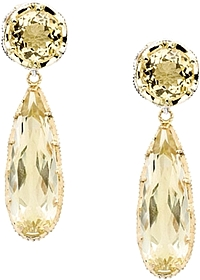 Tacori 18k925 Lemon Quartz Drop Earrings
