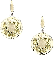 Tacori 18K925 Lemon Quartz Earrings