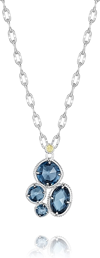 Tacori 18k925 London Blue Topaz Necklace