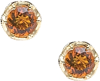 Tacori 18k925 Madeira Citrine Earrings