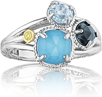 Tacori 18K925 Multi-Stone Ring
