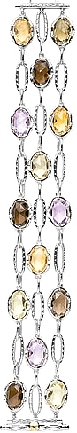 Tacori 18k925 Multi-Strand Colored Medley Bracelet