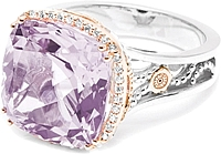 Tacori 18k925 Purple Amethyst & Diamond Ring