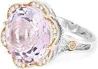 Tacori 18k925 Rose Amethyst Diamond Ring
