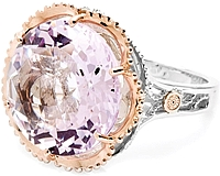 Tacori 18k925 Rose Amethyst Ring