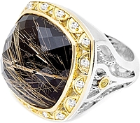 Tacori 18k925 Rutiliated Black Onyx Diamond Ring