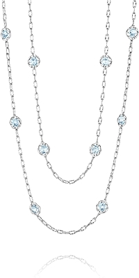 Tacori 18K925 Sky Blue Topaz Necklace