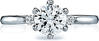 Tacori 3 Stone Diamond Engagement Ring