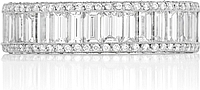 Tacori Baguette & Pave Diamond Eternity Ring