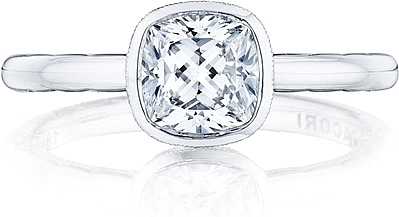 This Image Shows The Setting With A 1 00ct Cushion Cut Center Diamond