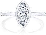 This image shows the setting with a 1.25ct marquise cut center diamond. The setting can be ordered to accommodate any shape/size diamond listed in the setting details section below.