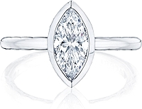Tacori Bezel Set Marquise Diamond Engagement Ring