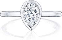 Tacori Bezel Set Pear Shape Diamond Engagement Ring