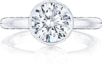 Tacori Bezel Set Round Brilliant Cut Diamond Engagement Ring
