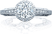 Tacori Channel & Pave Diamond Engagement Ring w/ Bloom