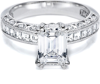 Tacori Channel Set And Pave Diamond Engagement Ring Ht2273sol
