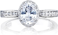 Tacori Channel-Set Oval Diamond Engagement Ring w/ Bloom