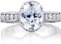 Tacori Channel-Set Oval Engagement Ring w/ Bloom