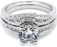 Tacori Contoured Pave Diamond Band