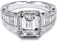 Tacori Diamond Engagement Ring for an Emerald or Radiant Cut