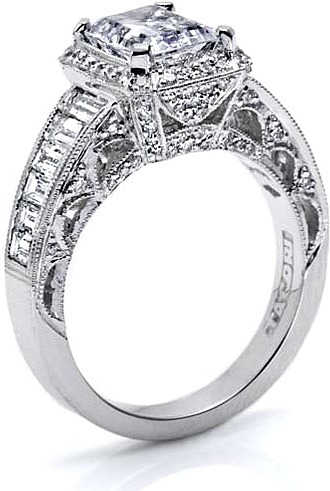 Tacori Diamond Engagement Ring For An Emerald Or Radiant Cut Ht2531