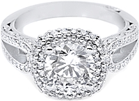 Tacori Diamond Halo Engagement Ring