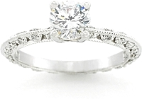 Tacori Diamond Pave Engagement Ring