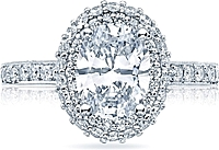 Tacori Double Halo Oval Diamond Engagement Ring