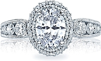 Tacori Double Halo Oval Engagement Ring