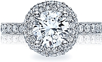 Tacori Double Row Halo Diamond Engagement Ring