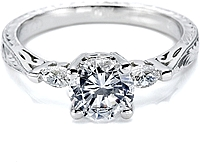 Tacori Engagement Ring w/ Marquise Side Diamonds