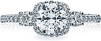 Tacori Engagement Ring w/ Pave Set Diamonds